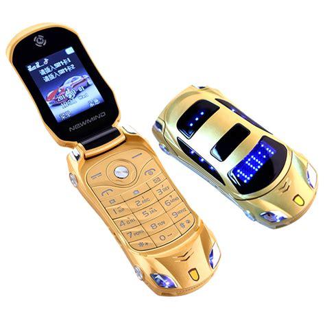 Radio Mp3 Mobil car model flashlight dual sim cards mp3 mp4 fm radio recorder flip cellphone car model mini cell