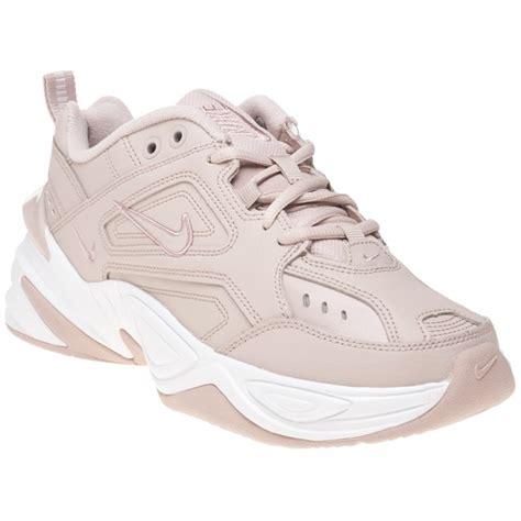 womens pink nike mk tekno sneaker  soletrader