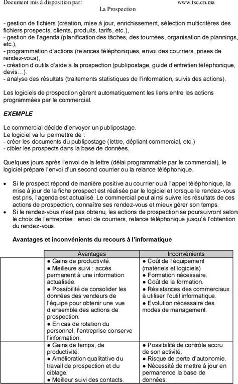 Modele Plan De Prospection