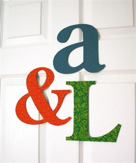 Fabric Covered Letters by Mmmcrafts Fabric Covered Letters