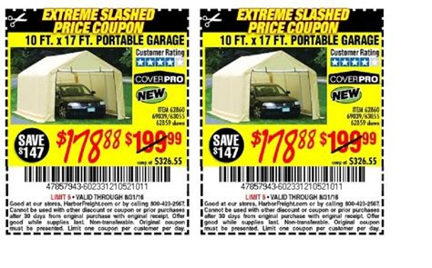 10 X 17 Portable Garage by Harbor Freight Tools Coupon Database Free Coupons 25
