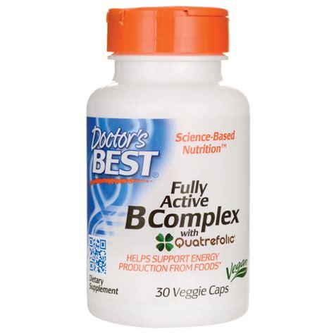 best vitamin b complex doctor s best best b complex fully active 30 veg caps