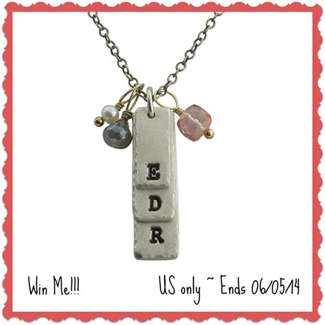 Giveaway Jewelry - isabelle grace personalized stacked initial silver necklace giveaway ends 06 05 14