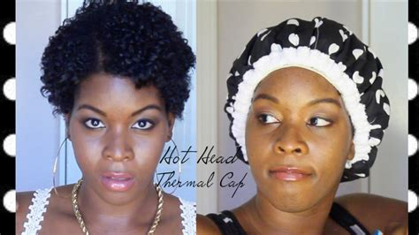 4d natural hair hot head thermal cap with flat twist on 4a 4b 4c 4d 4z