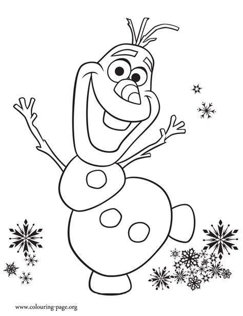happy birthday olaf coloring page look olaf is excited with anna s birthday party print