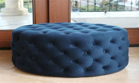 round blue tufted ottoman abbyson living ella blue tufted round velvet ottoman room