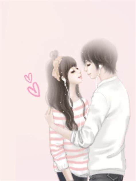 korean animated couple love by hanen 11270075 i ntere st