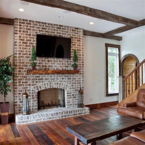 Whitewashed Fireplace by Modern Brick Whitewash Studio Design Gallery Best
