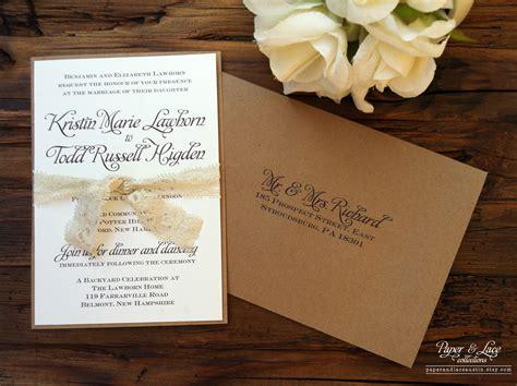 etsy printable wedding invitations uk rustic wedding invitation kraft lace