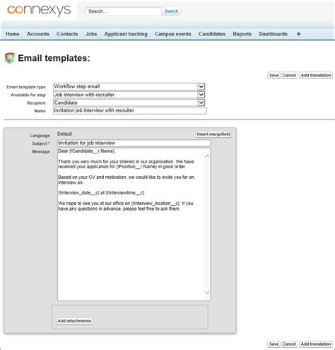 make an email template create different email templates connexys help