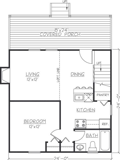 24x24 floor plans 24x24 cabin floor plans with loft free download pdf
