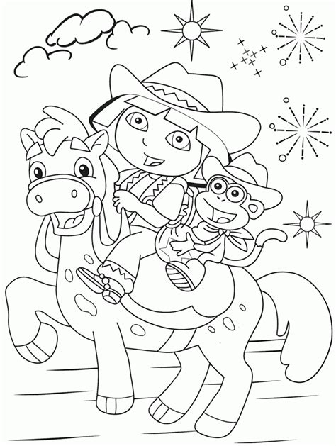 Free Printable Dora The Explorer Coloring Pages For Kids The Explorer Pictures To Print Free