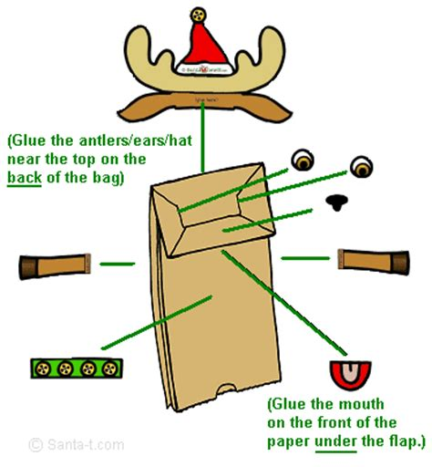 How To Make A Paper Reindeer - make a reindeer puppet