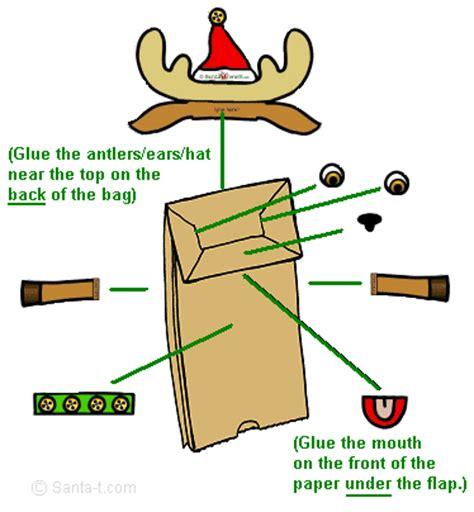 printable reindeer paper puppet make a reindeer puppet
