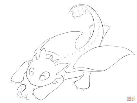 toothless with the fish coloring page free printable