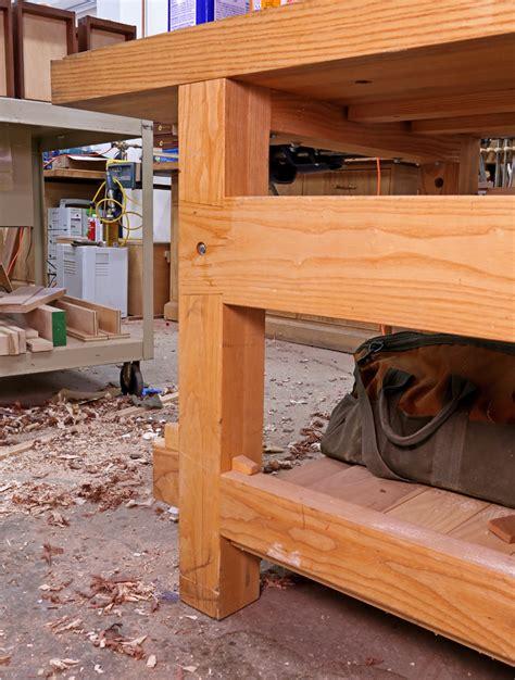 top woodworking blogs 21st century workbench leg joints popular woodworking