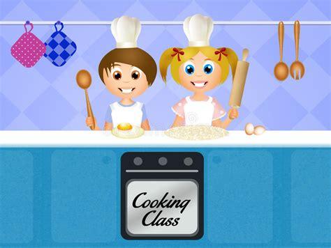 cours de cuisine pour enfant cours de cuisine pour des enfants illustration stock