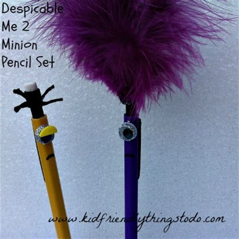 friendly things to do near me minion pencils from despicable me 2 a craft kid friendly things to do kid