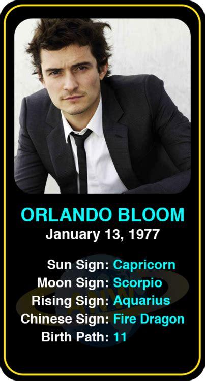 orlando bloom horoscope celeb capricorn birthdays orlando bloom s astrology info