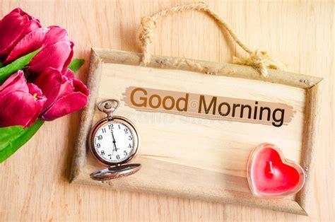 good morning stock photo image  heart flower fresh