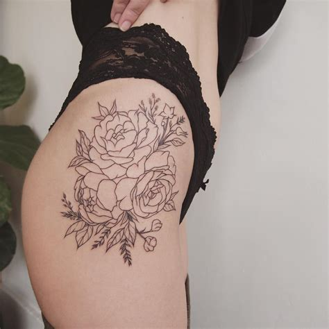 tattoo thigh pinterest peonies on thigh tattoo people toronto jess chen