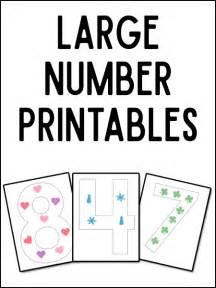 Jumbo Wall Stickers large numeral printables prekinders