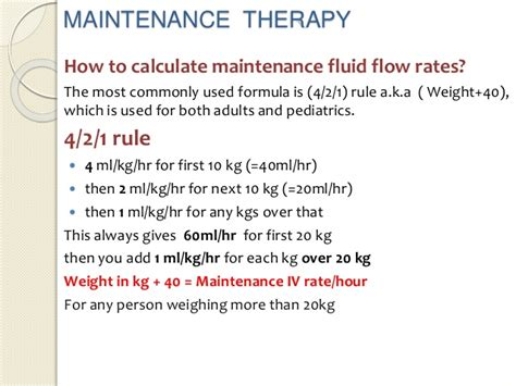 4 2 1 hydration rule iv fluids and blood in resuscitation