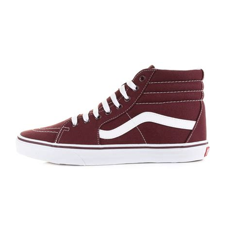 mens vans u sk8 hi port royal burgundy high top