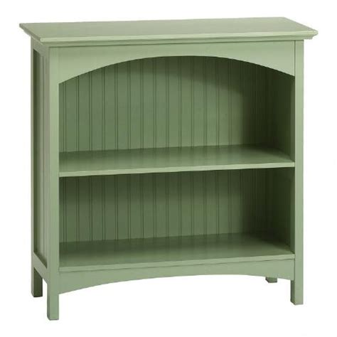 beadboard shelves green beadboard 2 shelf bookcase tree shops