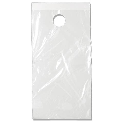 7x12 door knob plastic bag non printed 24clr712