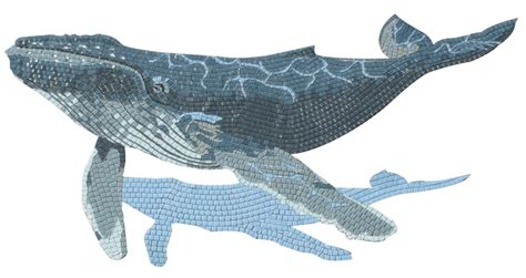 Wall Tile Murals 2 5m humpback whale glass mosaic picture design