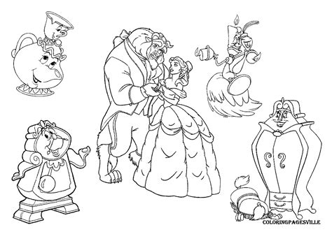 beauty and the beast coloring pages gaston beauty and the beast coloring pages