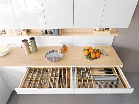 Space Saving Kitchen Ideas | contemporary italian kitchen offers functional storage