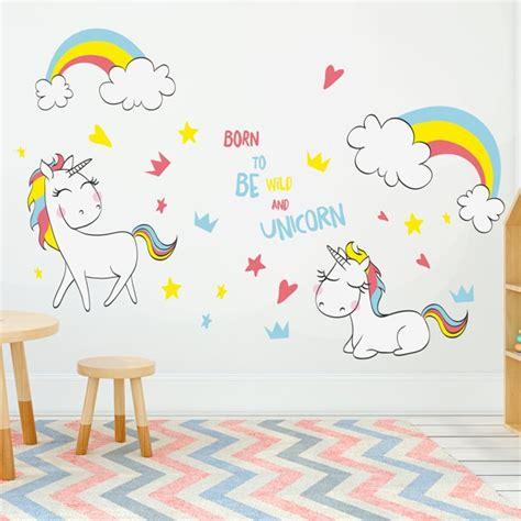 como decorar tu cuarto estilo unicornio vinilos unicornios para decorar las habitaciones infantiles