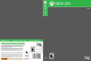 xbox one cover template xbox 360 cover template by etschannel on deviantart