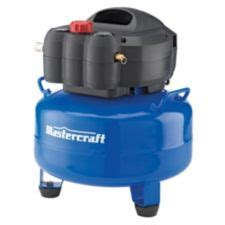 mastercraft 6 gallon pancake air compressor with 2 in 1 nailer canadian tire