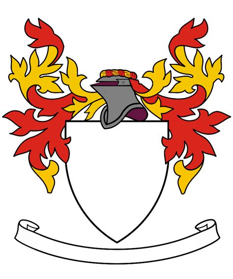 design free coat of arms heraldry shield template clipart best