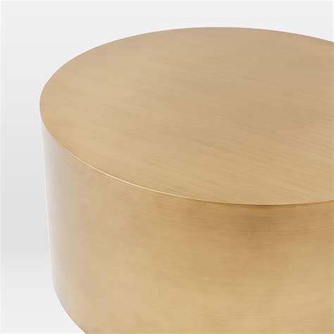 metal drum coffee table west elm