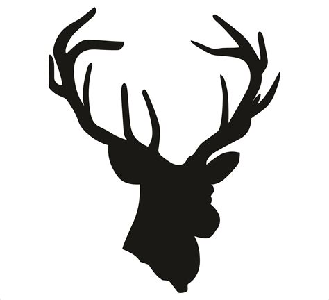 deer head deer head silhouette clip art cliparts co