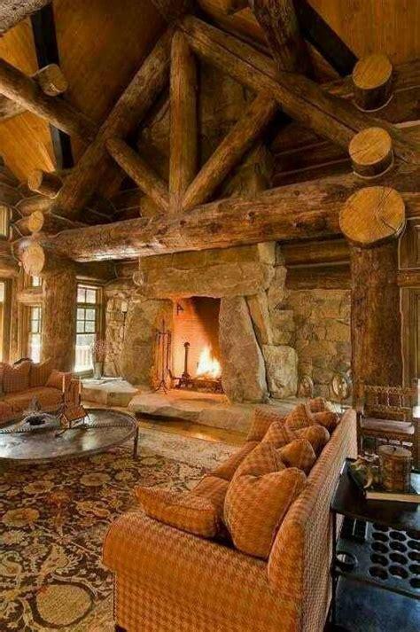 log cabin living room anything adirondack