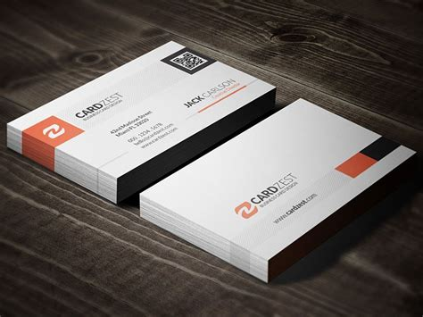 business card with qr code template 187 http cardzest modern stylish qr code