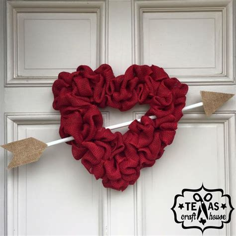 diy valentines wreath burlap wreath diy s day