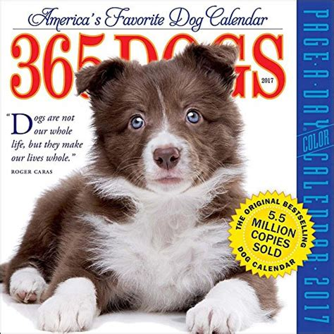 365 dogs page a day calendar 0761193952 365 dogs 2017 color page a day calendar