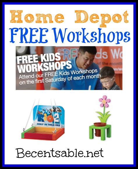home depot free crafts for