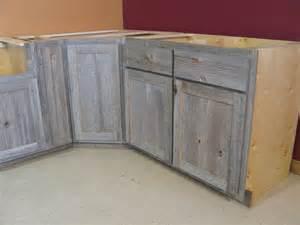weathered gray barn wood kitchen island country