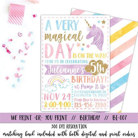 printable rainbow unicorn invitations printable unicorn invitation unicorn party invitation