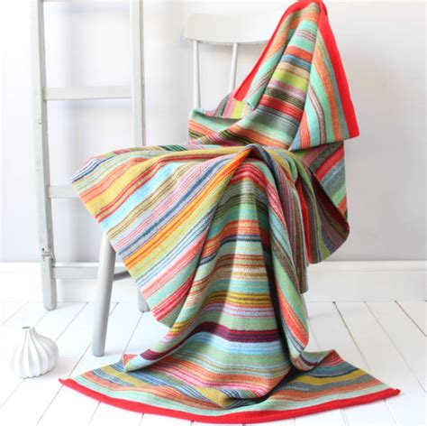 throws for armchairs bombay striped knitted lambswool throw by gabrielle vary