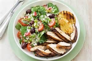 grilled balsamic chicken with rice salad recipe taste com au