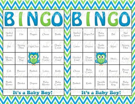 Bingo Baby Shower Cards by 30 Baby Shower Bingo Cards Printable Baby Boy