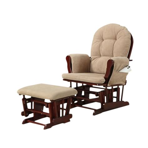Coaster Tan Microfiber Glider With Matching Ottoman By Microfiber Glider Recliner With Ottoman